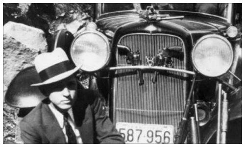 """Bonnie & Clide y su Ford V8 """"B"""""""