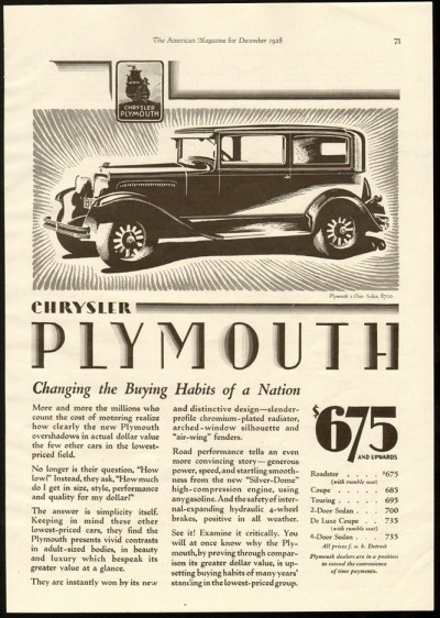 2 plymouth 1928